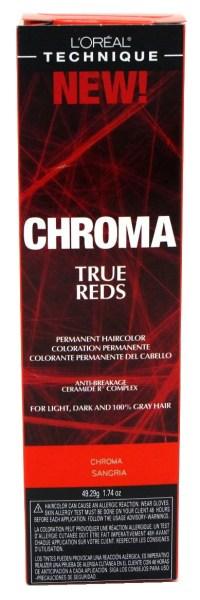 Loreal Chroma True Reds Hair Color - Sangria 1.74 Ounce ...