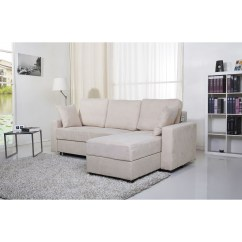 Aspen Convertible Sectional Storage Sofa Bed Art Show New York Gold Sparrow Pearl