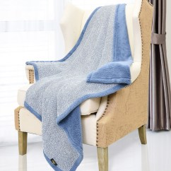 Fuzzy Sofa Denim Covered Sofas Cable Knit Sherpa Furry Throw Blanket Reversible Super