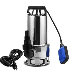 1 5 hp stainless steel submersible sump pump dirty clean water pump w 15ft cable and float switch btc walmart com [ 1500 x 1500 Pixel ]
