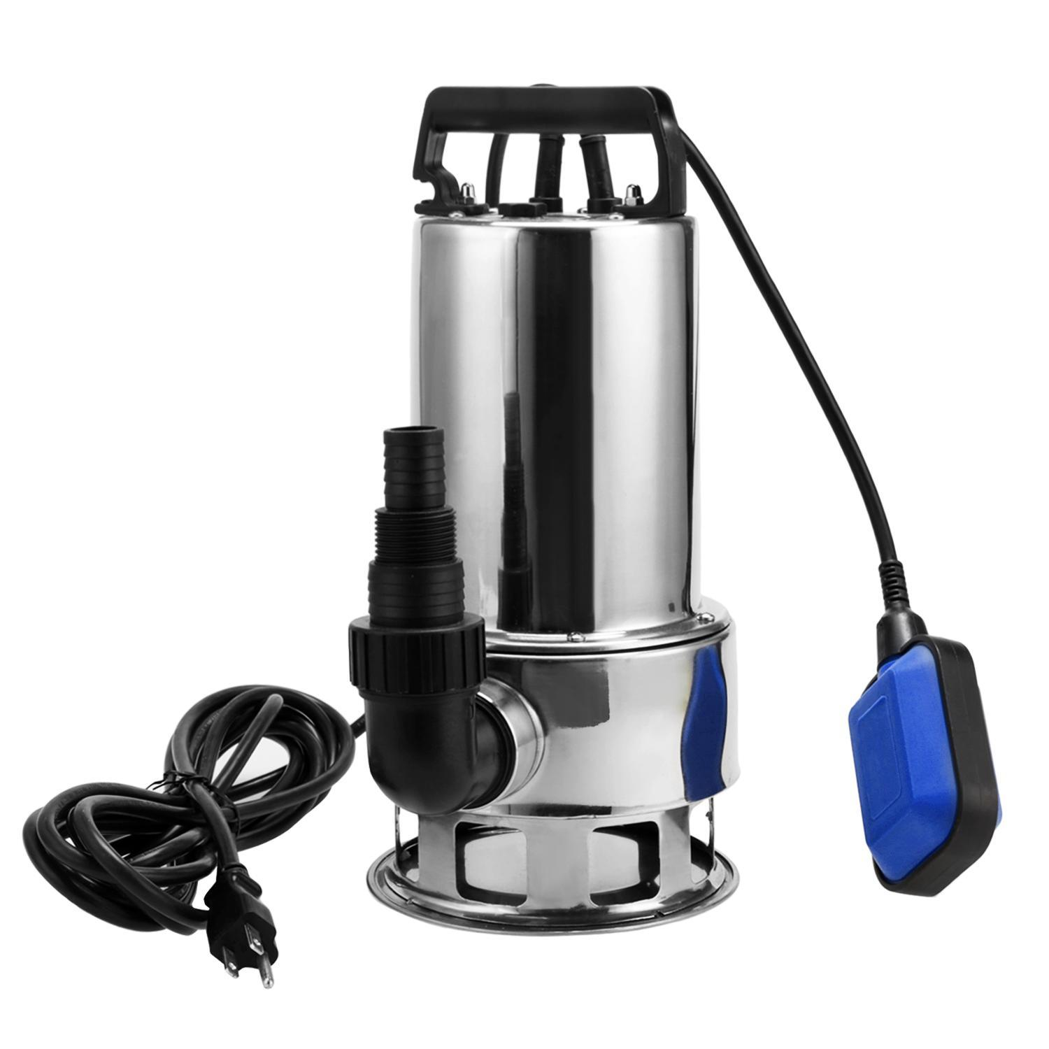 hight resolution of 1 5 hp stainless steel submersible sump pump dirty clean water pump w 15ft cable and float switch btc walmart com