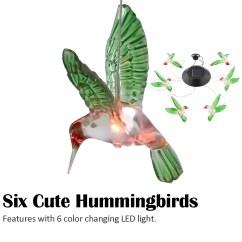 Hummingbird Diagram Of Color Cat 6 Wiring Solar Changing Wind Chime By Eeekit Walmart Com