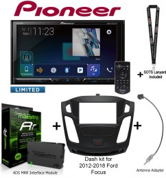 pioneer avh 2440nex 7 dvd receiver idatalink maestro kit foc1 dash kit [ 1952 x 1956 Pixel ]