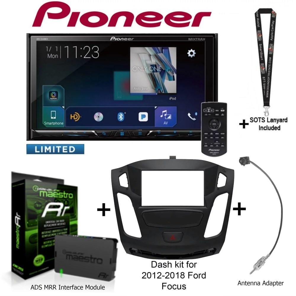 medium resolution of pioneer avh 2440nex 7 dvd receiver idatalink maestro kit foc1 dash kit