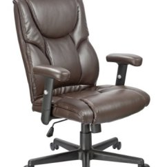 Office Chair With Adjustable Arms Spa Pedicure Chairs Parts Factor Executive High Back Lumbar Support Ergonomic Brown Bonded Leather