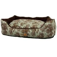 AlphaPooch Cuddler Rectangular Bolster Dog Bed, Celery ...