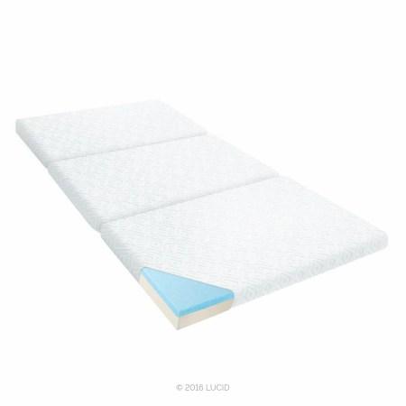 Lucid 3 Folding Gel Memory Foam Floor Mattress Twin