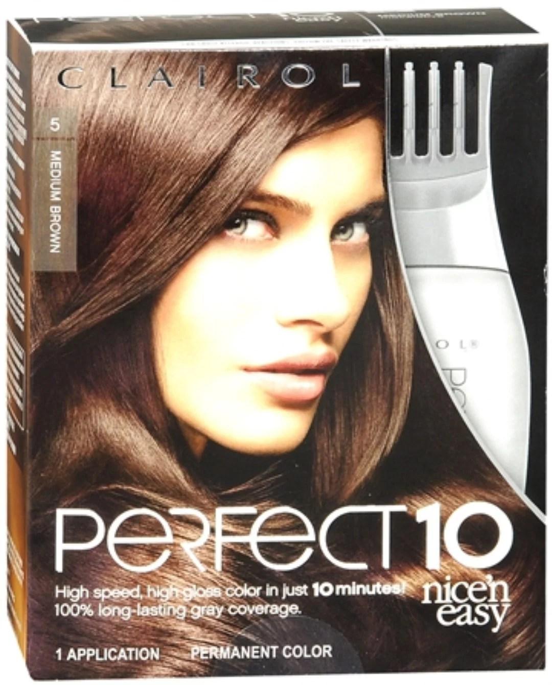clairol nice ' easy perfect 10