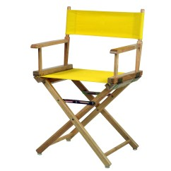 Directors Chair Walmart Leather Counter Height Chairs 18 Quot Director 39s Natural Frame Yellow Canvas