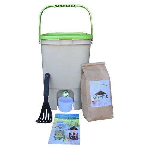 kitchen composter aid range hood vermitek 5 gal walmart com