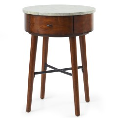 Sofa Side Table Wood Cama Individual Mercado Libre Mexico Wooden Round Accent Couch End Drawer