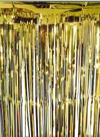 """36"""" x 96"""" Gold Foil Fringe Door Window Party Decoration"""