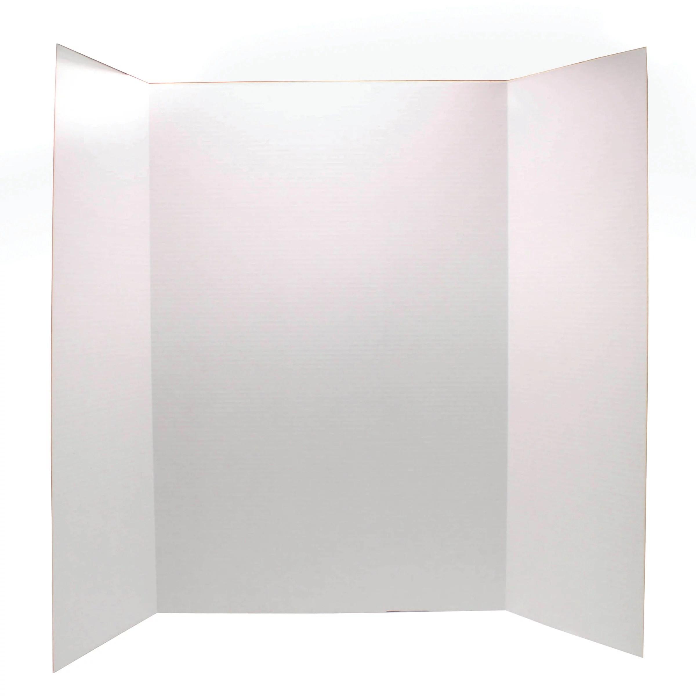 ucreate 36 x 48 white tri fold corrugate presentation board