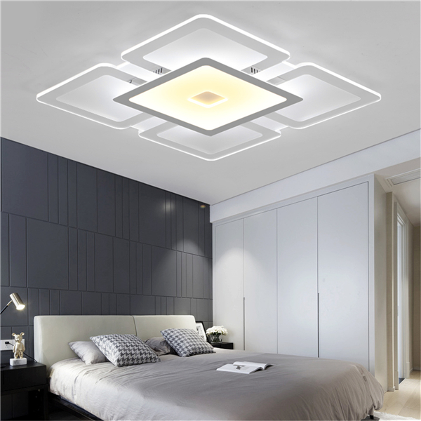 led ceiling light living room deco meigar rectangular acrylic modern bedroom square lighting home decor walmart com