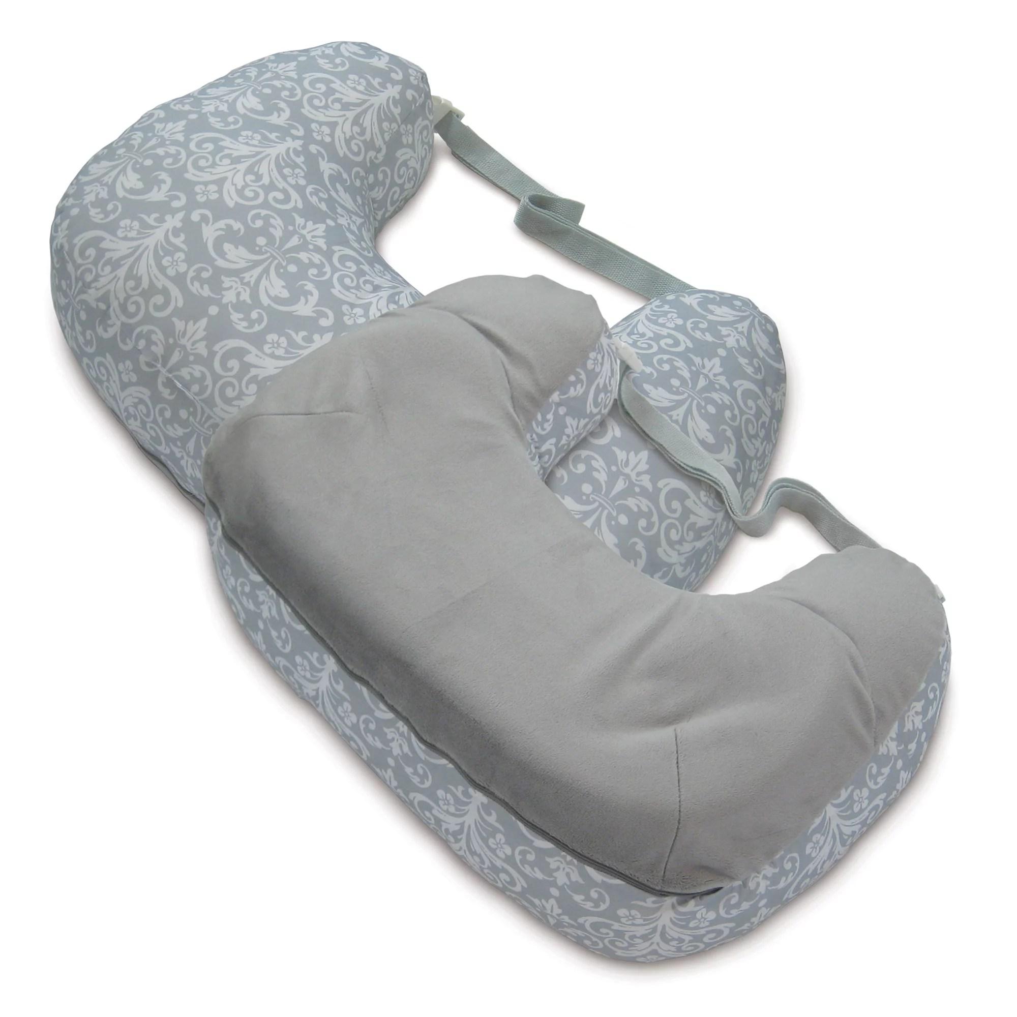 boppy best latch breastfeeding pillow kensington gray