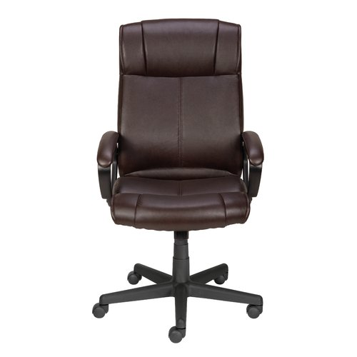 staples turcotte chair brown bertoia diamond cover replacement high back executive walmart com