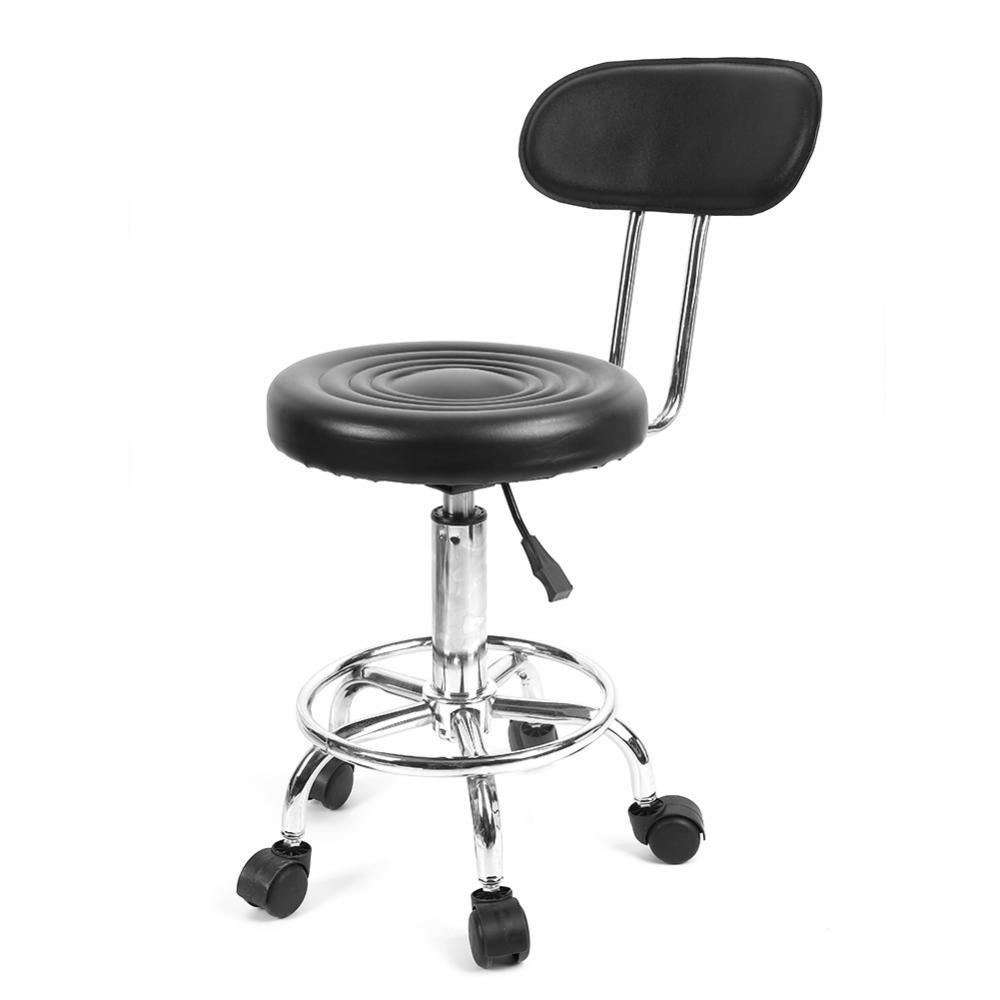 counter height computer chair hanging outdoor amazon stool bar knifun armless desk office swivel adjustable hydraulic leather round