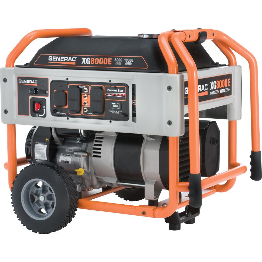 medium resolution of generac 5747 xg series 8 000 watt electric manual start portable generator walmart com