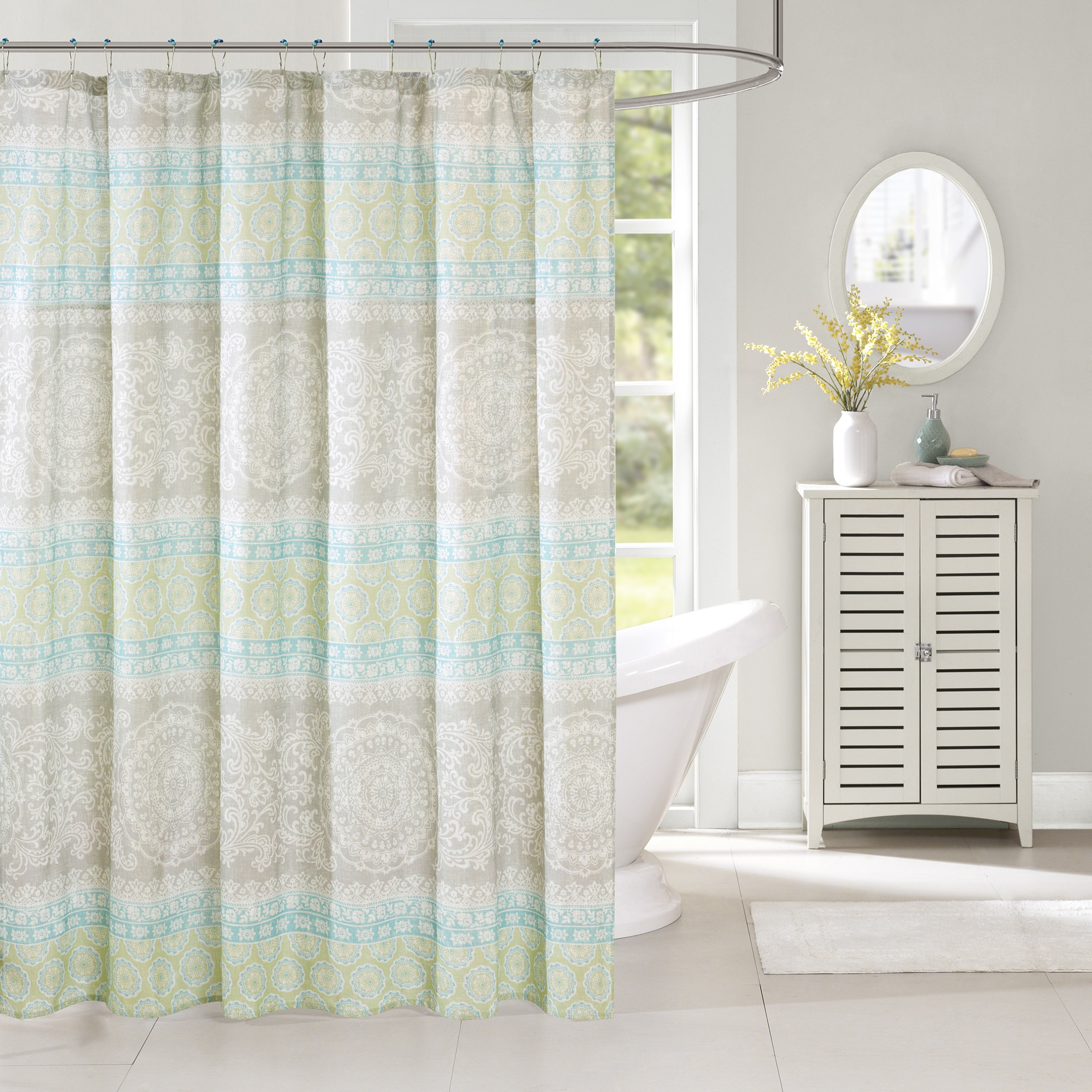 Harbor House Adeline Cotton Printed Shower Curtain 72 X 72