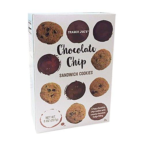 Trader Joe39s Chocolate Chip Sandwich Cookies with Creamy