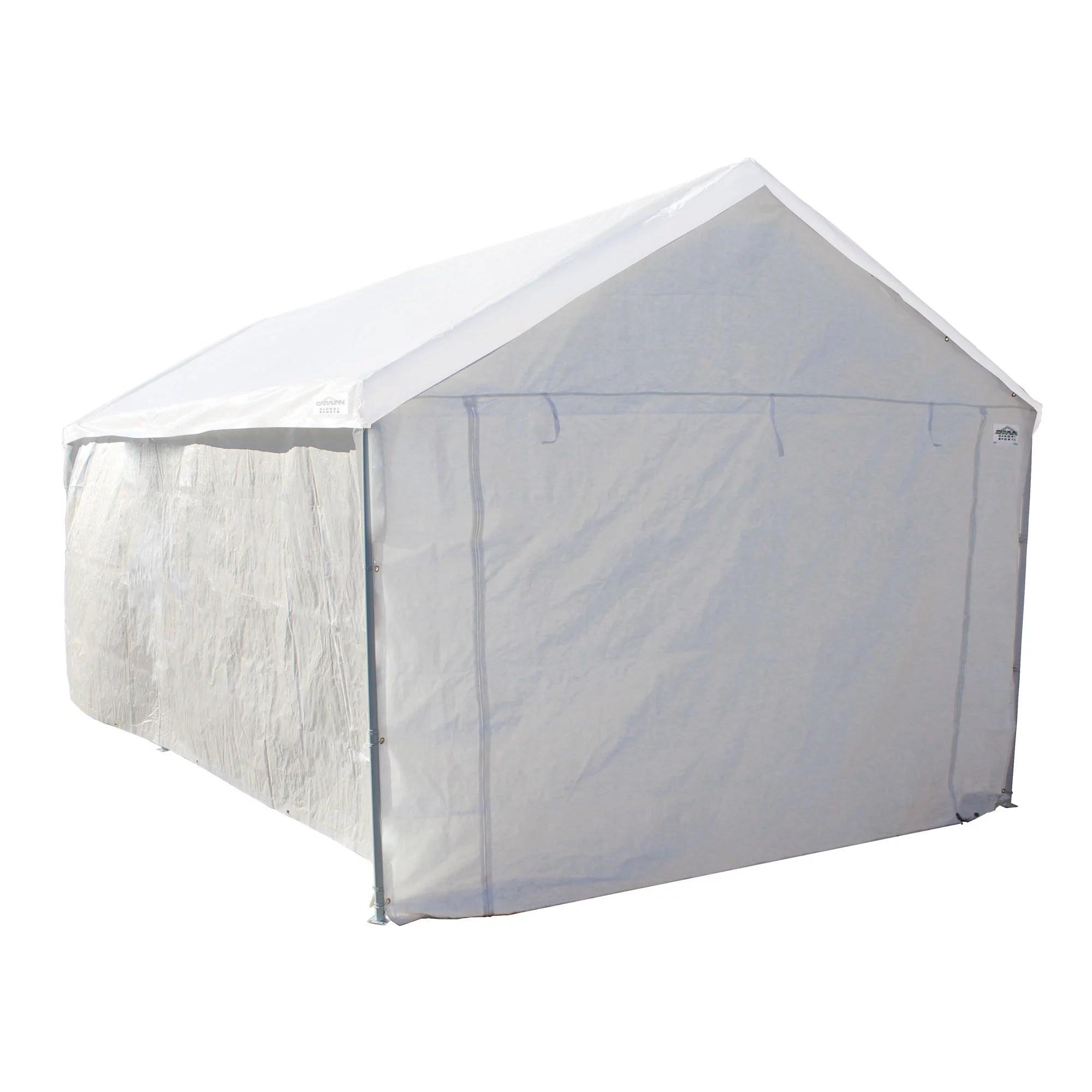 Caravan Canopy 10 X 20 Domain Carport Garage With SidewallEnclosure Value Bundle