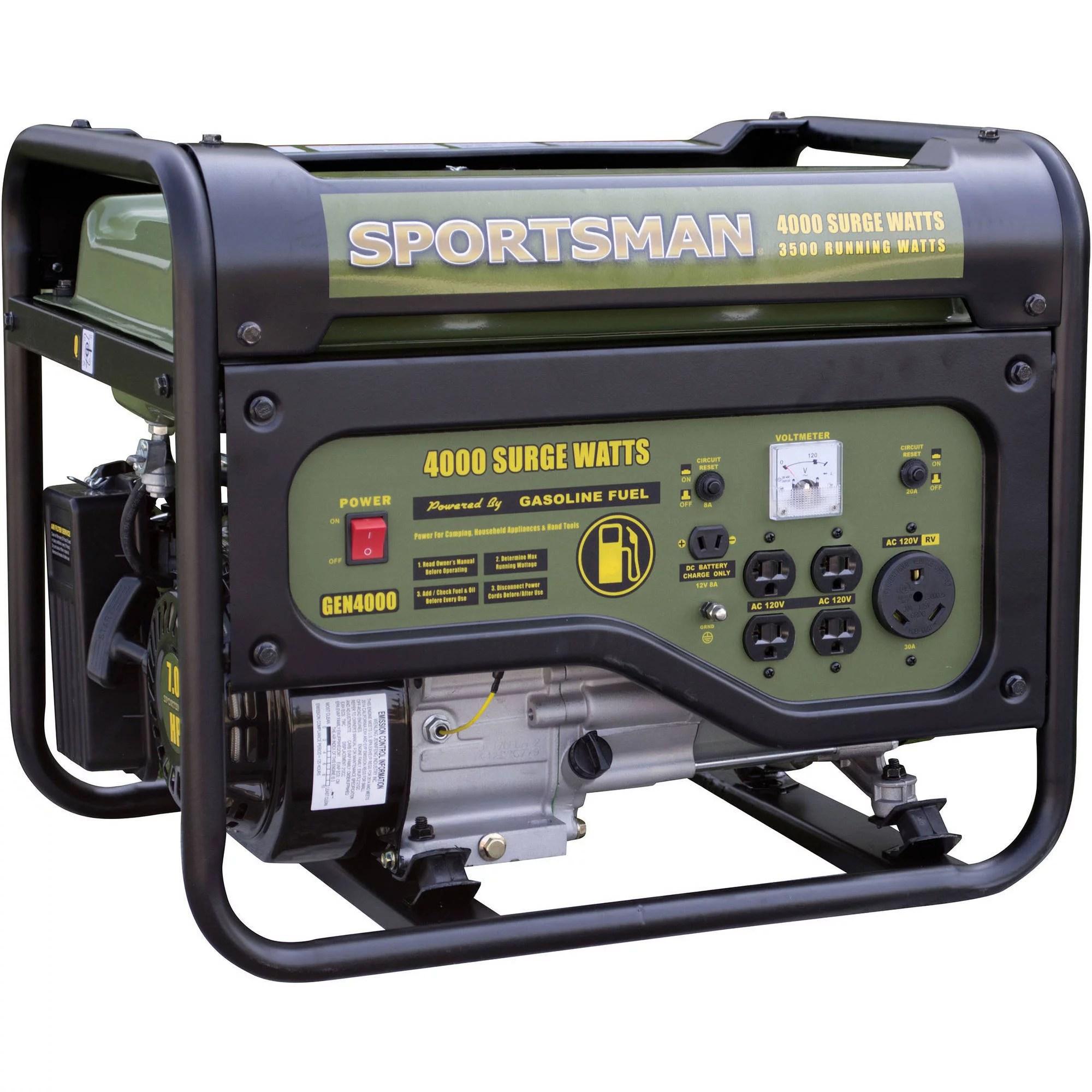 hight resolution of 5802 10000 watt electric start portable generator 49 state walmart com