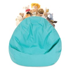 Bean Bag Chair Covers Patio Chairs With Ottomans Majestic Home Goods Stuffed Animal Storage Cover W Transparent Mesh Base Multiple Colors Walmart Com