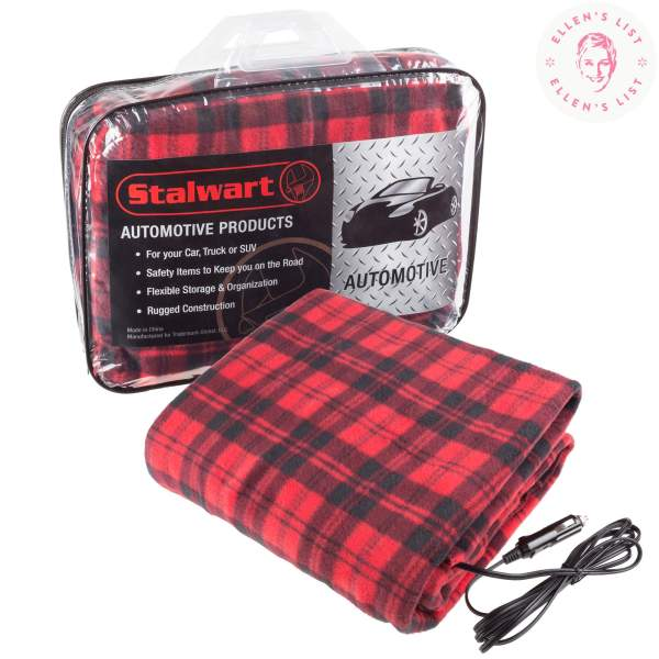 Electric Heater Car Blanket- Heated Travel Throw Blanket And Rv 12 Volt