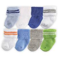 Newborn Baby Boys' Terry Socks 8-Pack, Choose Your Color ...