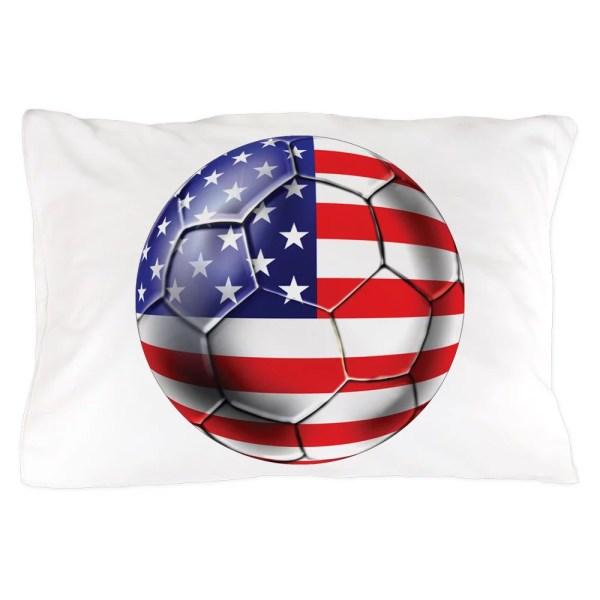 Cafepress - Usa Soccer Ball Standard Size Pillow Case