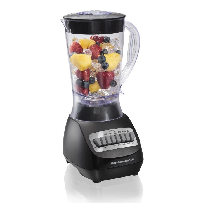 Hamilton Beach Smoothie Electric Blender with 10 Speeds, 56 oz. BPA-free Plastic Jar, Model 50190