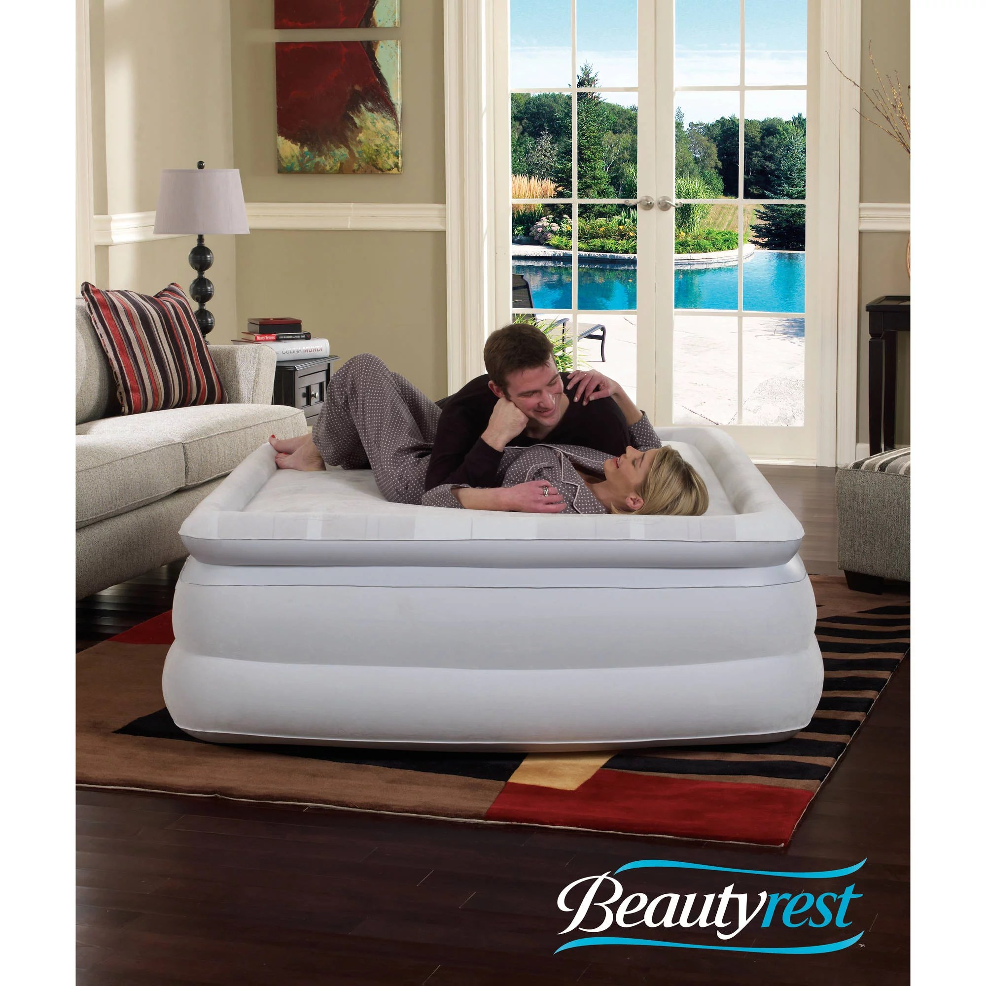 simmons beautyrest memory aire 18 raised queen air bed mattress