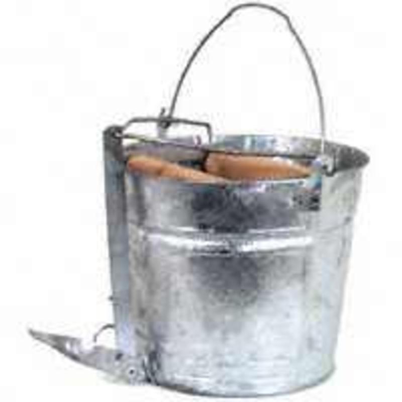 Genuine Joe Splash Guard Mop Bucket Wringer Combo Yellow