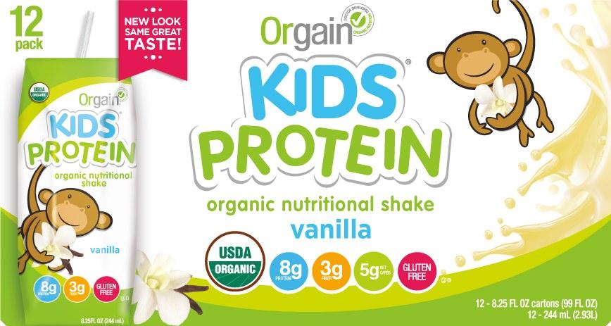 Orgain Kids Organic Nutritional Shake Vanilla 8g Protein ...