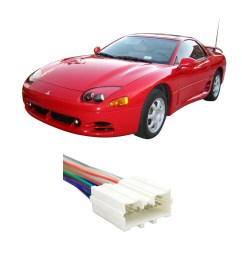 mitsubishi 3000gt 1994 1999 factory stereo to aftermarket radio wiring harness for 19922005 mitsubishi dodge stealth walmartcom [ 1000 x 1000 Pixel ]