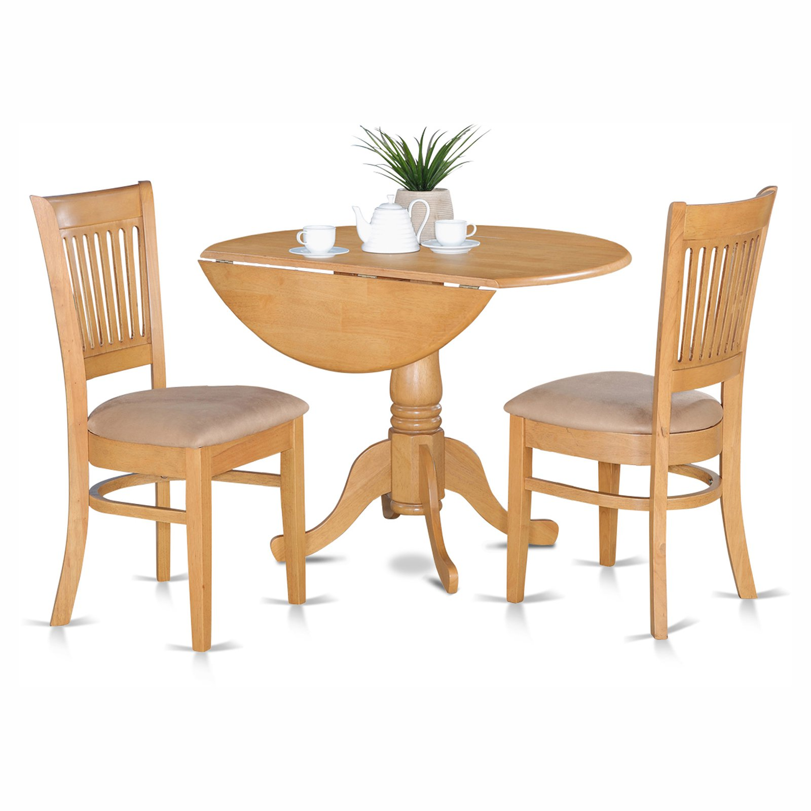 round table and chairs chair cover rentals bay area dining sets walmart com product image east west furniture dublin 3 piece drop leaf set with vancouver microfiber seat