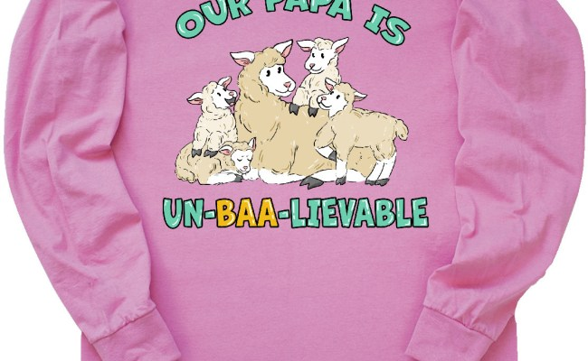 Inktastic Our Papa Is Un Baa Lievable With Cute Sheep