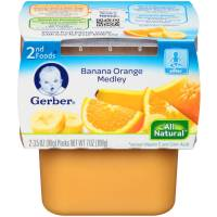 Gerber Gerber 2nd Foods Banana Orange Medley, 2 ea ...