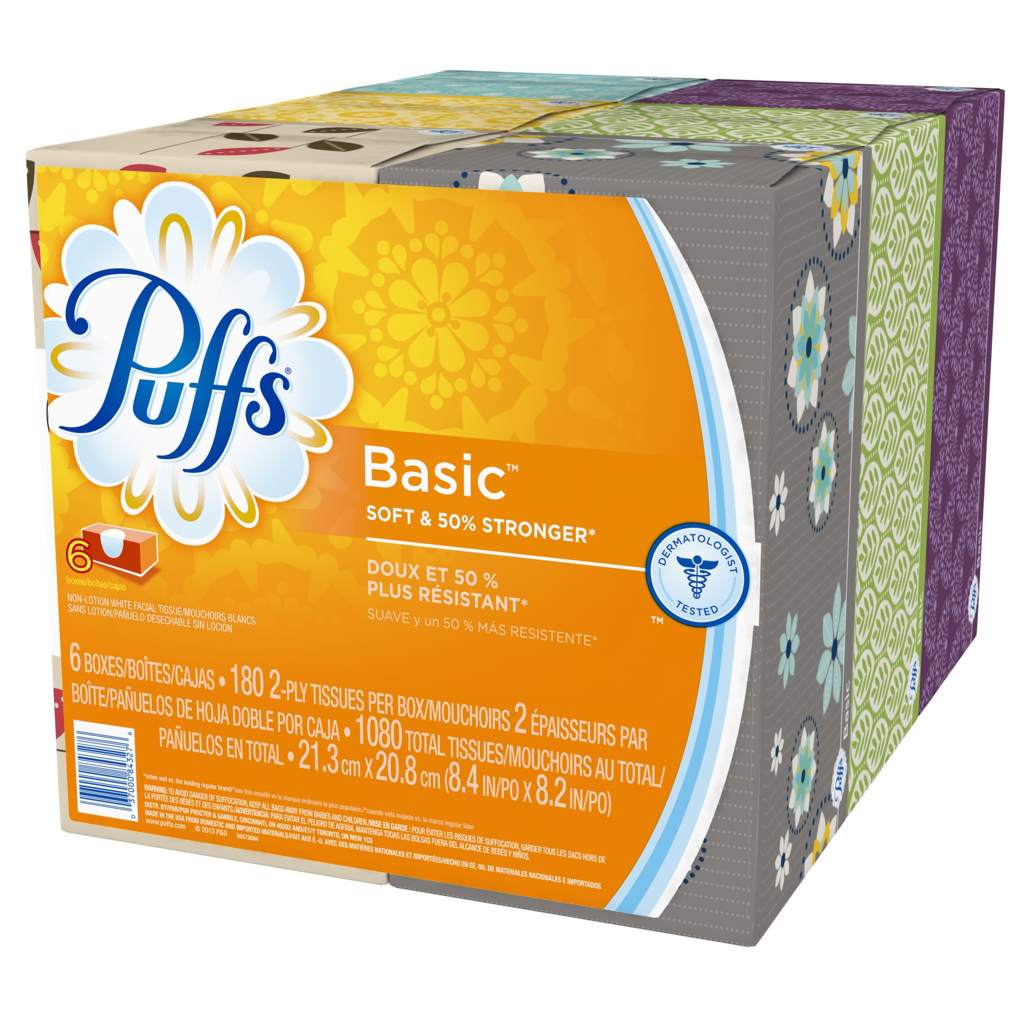 Puffs Basic Family Tissue 6 x 180 Ct Walmartcom
