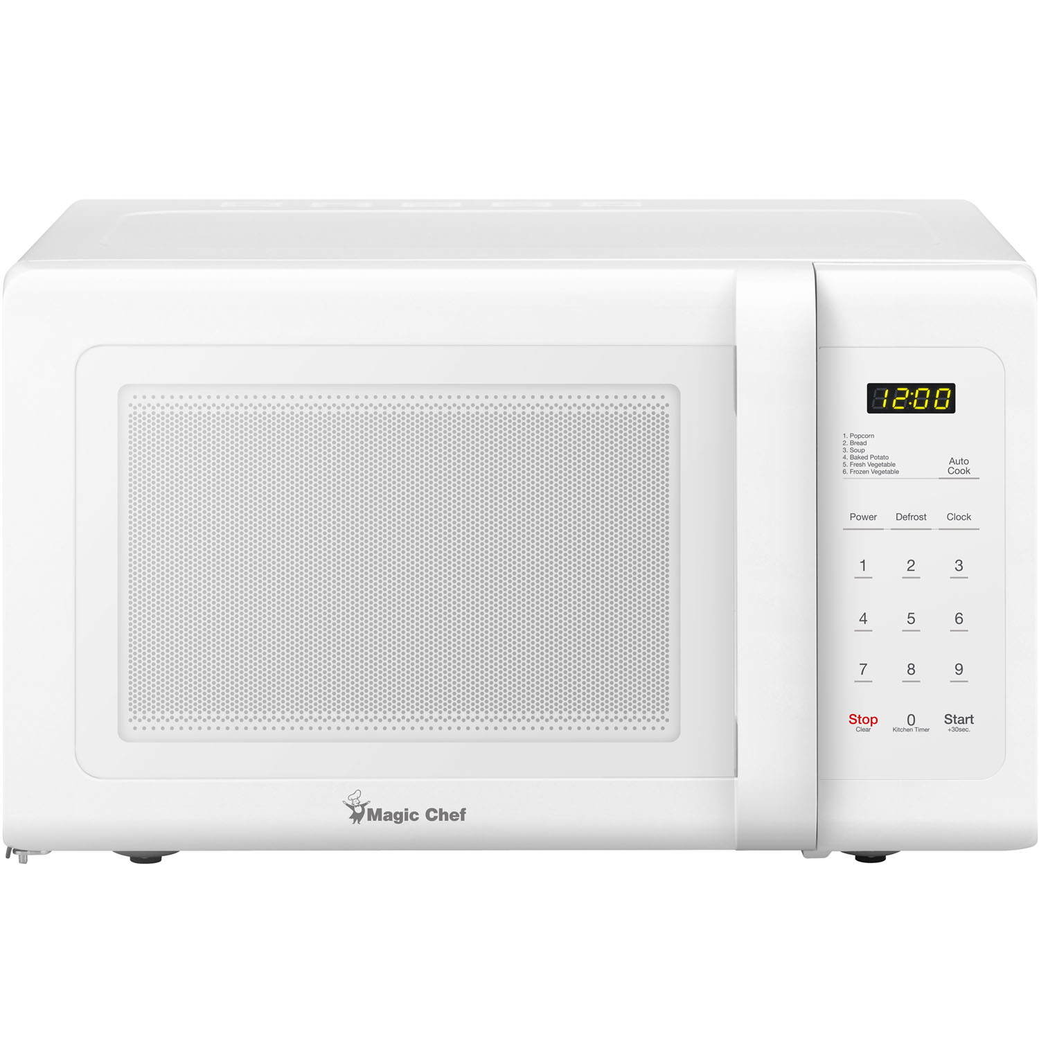 magic chef 0 9 cu ft 900w countertop microwave oven in white