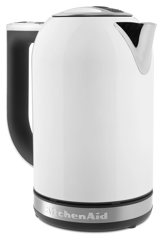 kitchen aid electric kettle cabinets honolulu kitchenaid 1 7l with led display white kek1722wh walmart com