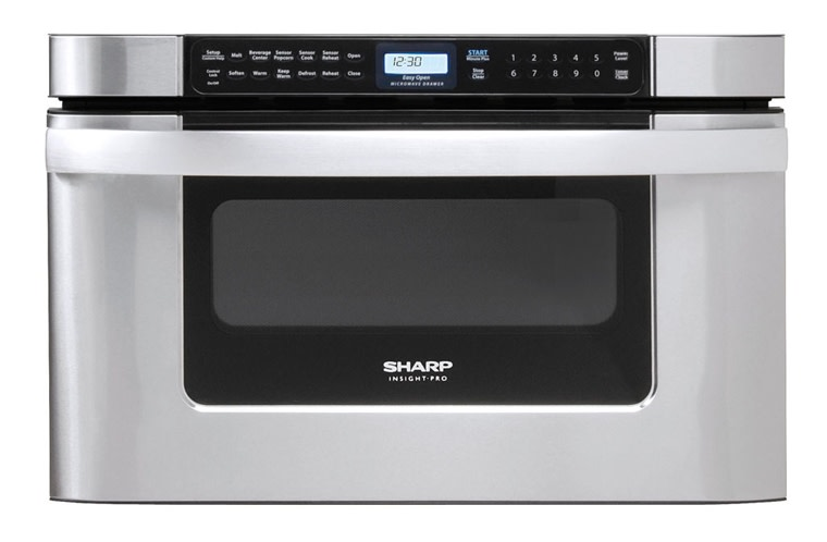 sharp kb6524psy 24 built in microwave drawer oven with 1 2 cu ft capacity 1000 cooking watts in stainless steel