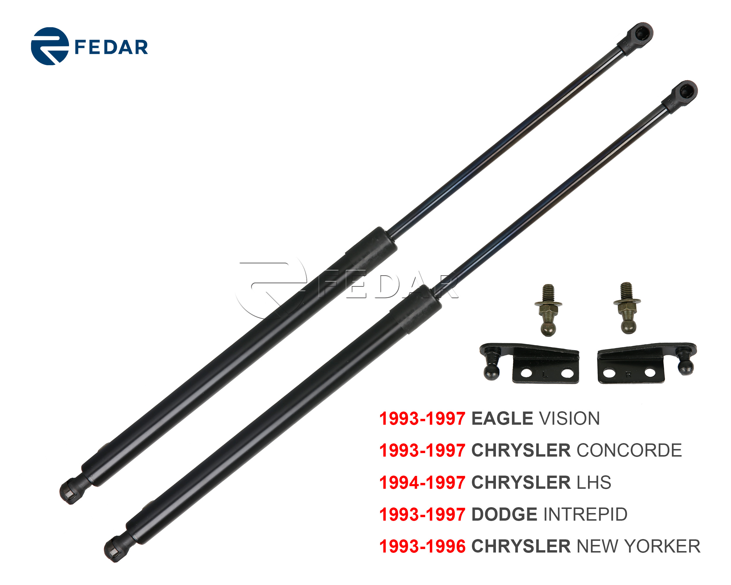Fedar Front Hood Gas Charged Lift Support For 1993-1997