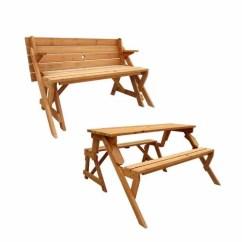 Folding Chair Picnic Table Office Back Support Cushion India Leisure Season Convertible And Garden Bench Medium Brown Walmart Com