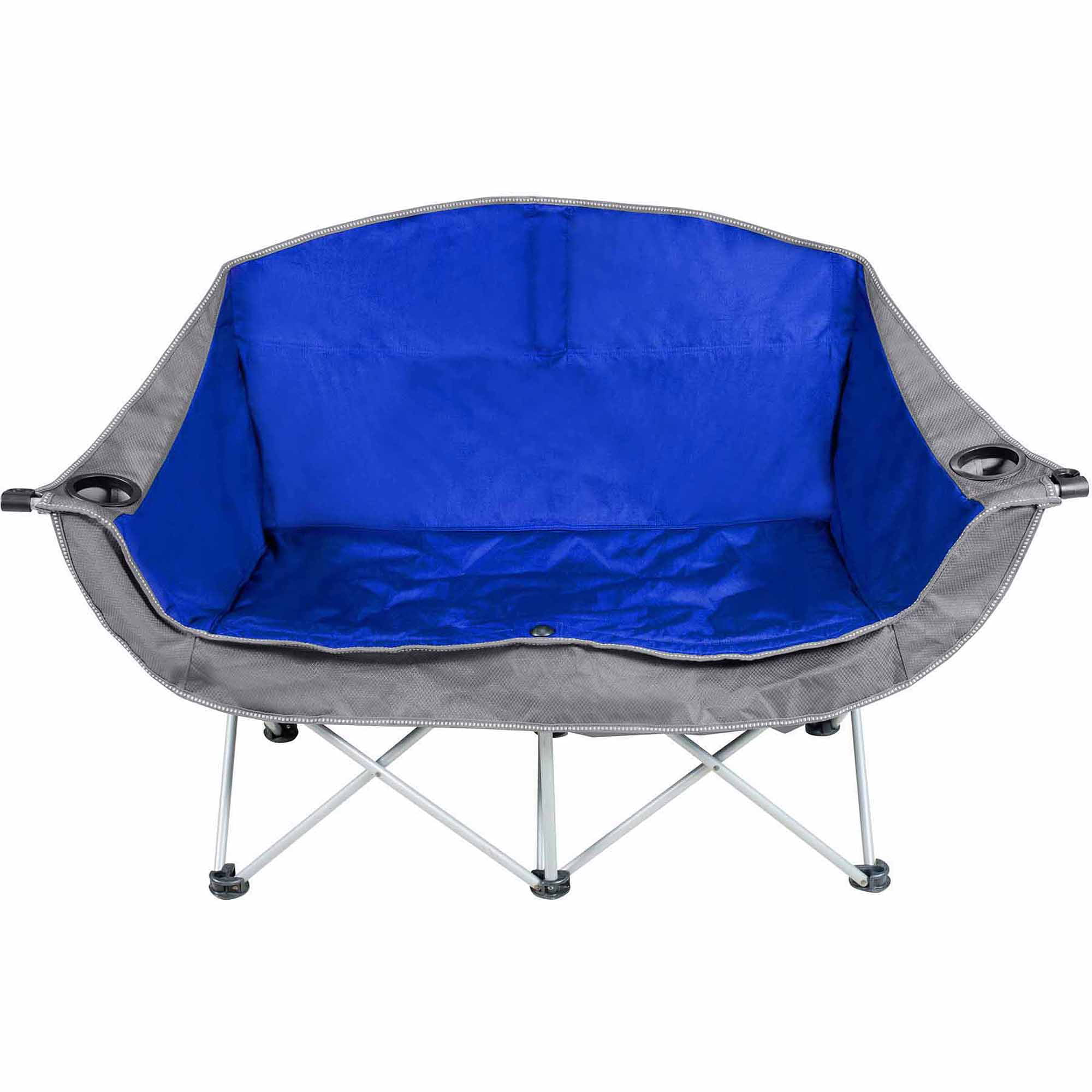 two seater lawn chair covers with pockets ozark trail 2 person camping love seat walmart com