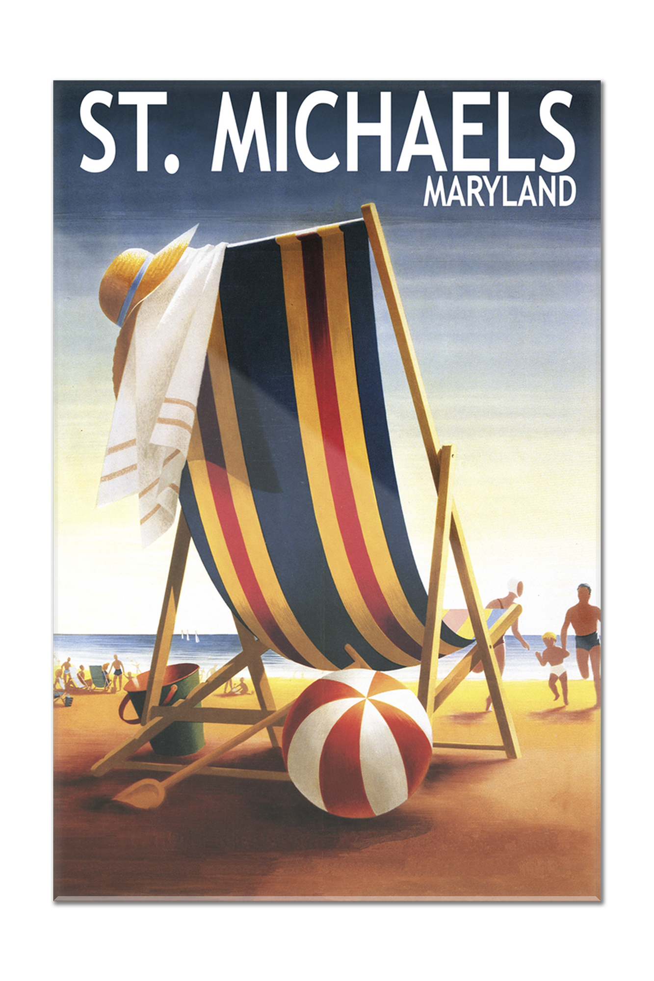 chair covers michaels folding chairs for sale cheap st maryland beach and ball lantern press poster 8x12