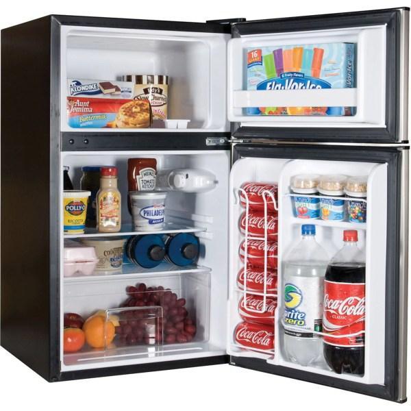 Mini Fridge Compact Refrigerator Freezer 2 Door Office College Dorm Wet Bar