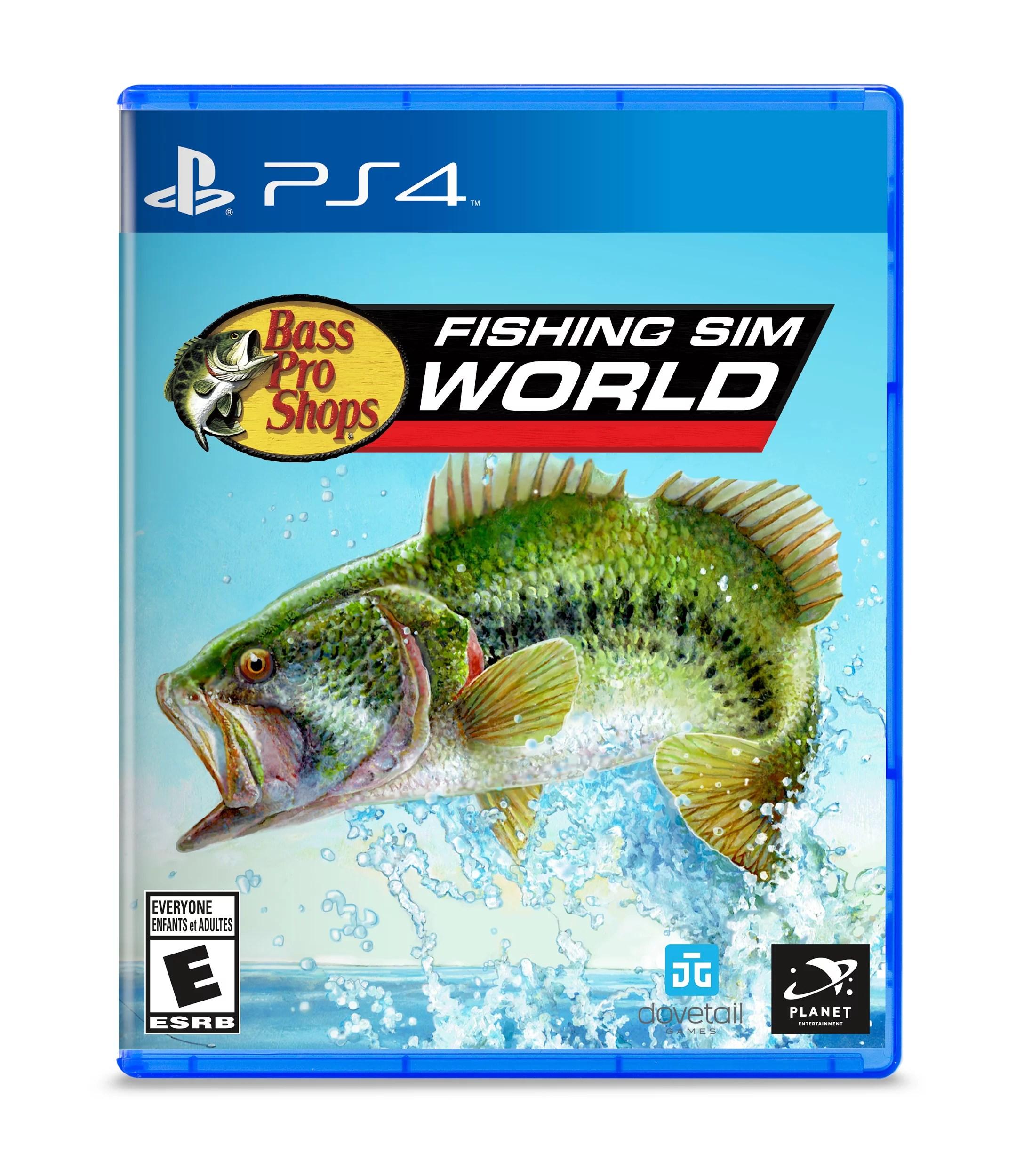 bass pro shops fishing sim world playstation 4 860108001213 walmart com
