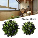 22 28cm Artificial Lavender Flower Ball Purple Lavender Fake Flowers Artificial Plant Hanging Topiary For Wedding Home Decor Office Garden Patio Decoration Walmart Canada