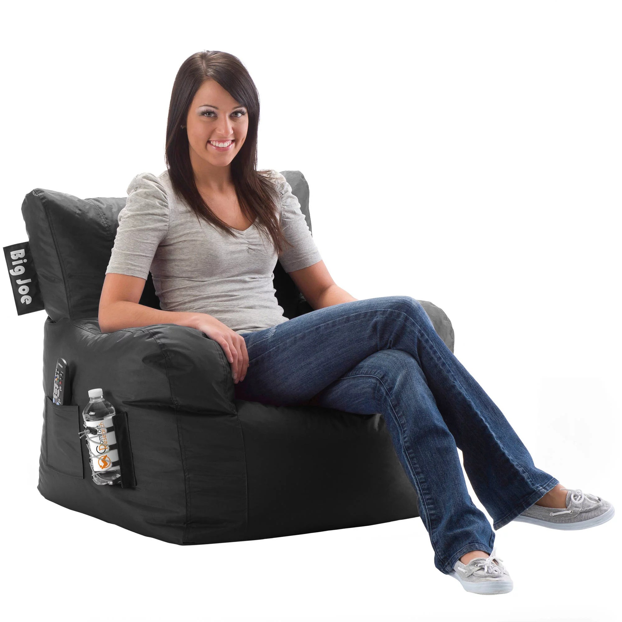 Where Can I Buy A Bean Bag Chair Big Joe Bean Bag Chair Multiple Colors Black Ebay
